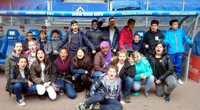 Unterricht im HSV-Stadion