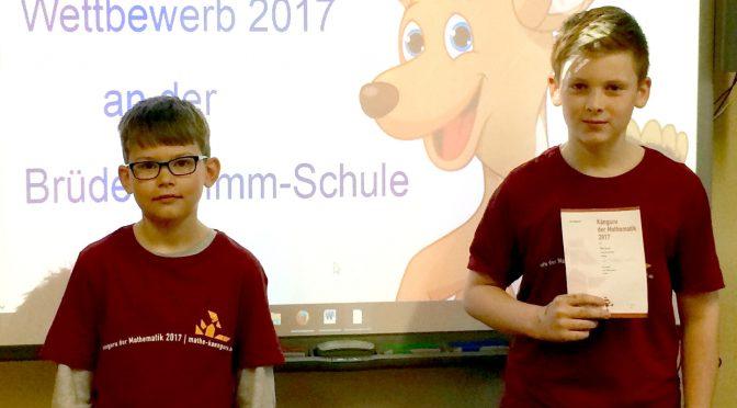 Mathe-Känguru-Wettbewerb 2017