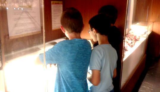 Jungforscher im mineralogischem Museum