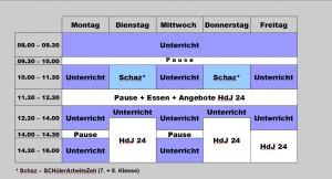 Zeitschema Ganztag am Querkamp 2014/15